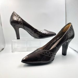 """NWOT Sofft Brown Patent Leather 3"""" Heels Sz 8.5 M"""